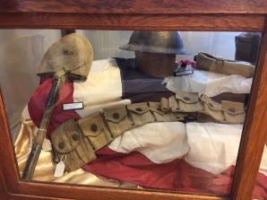 WWI Shovel & Helmet